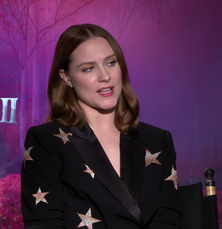 Evan Rachel Wood doing Frozen 2 press 11.8.19