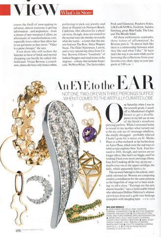 Vogue magazine Colette Jewelry