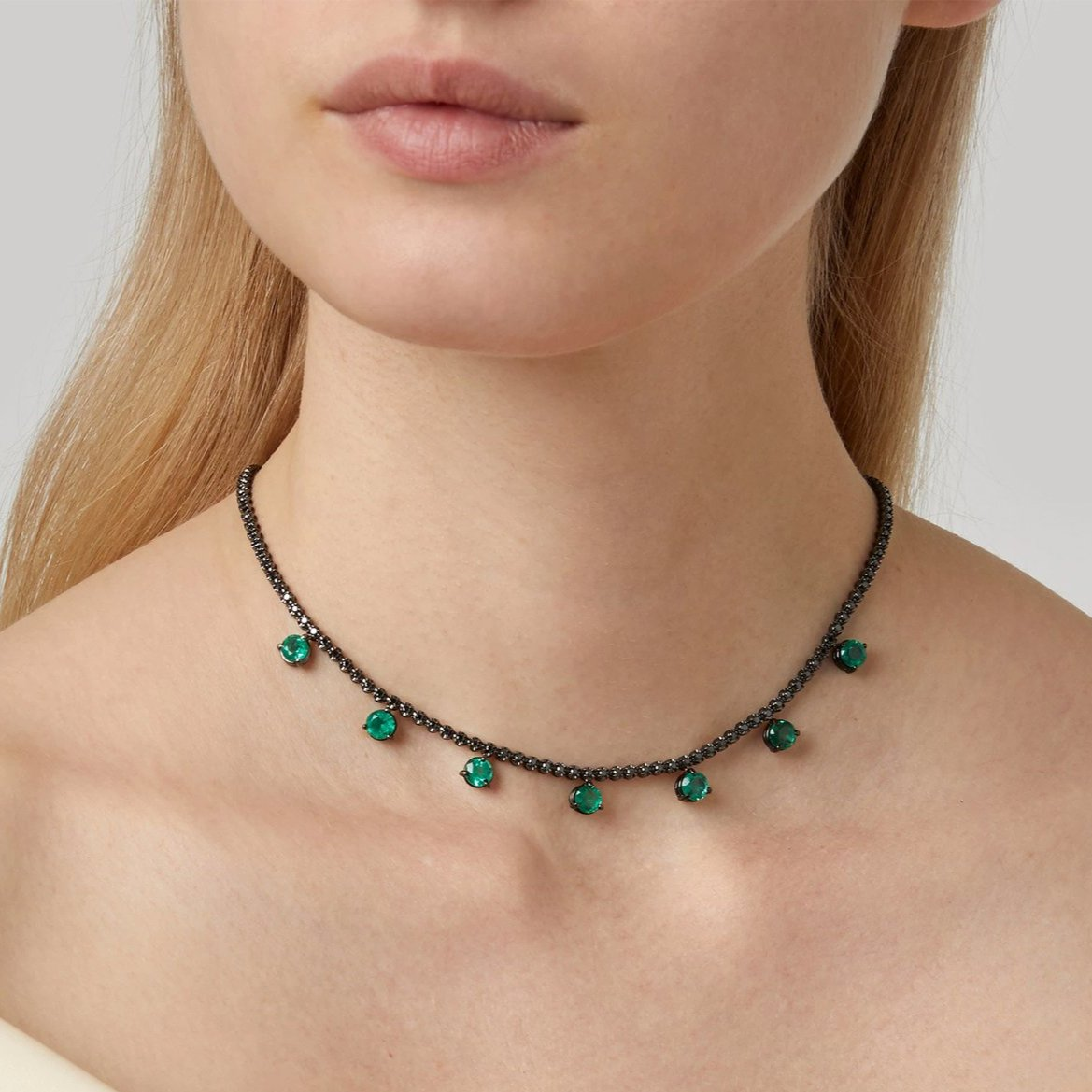 Entwined Emerald Necklace