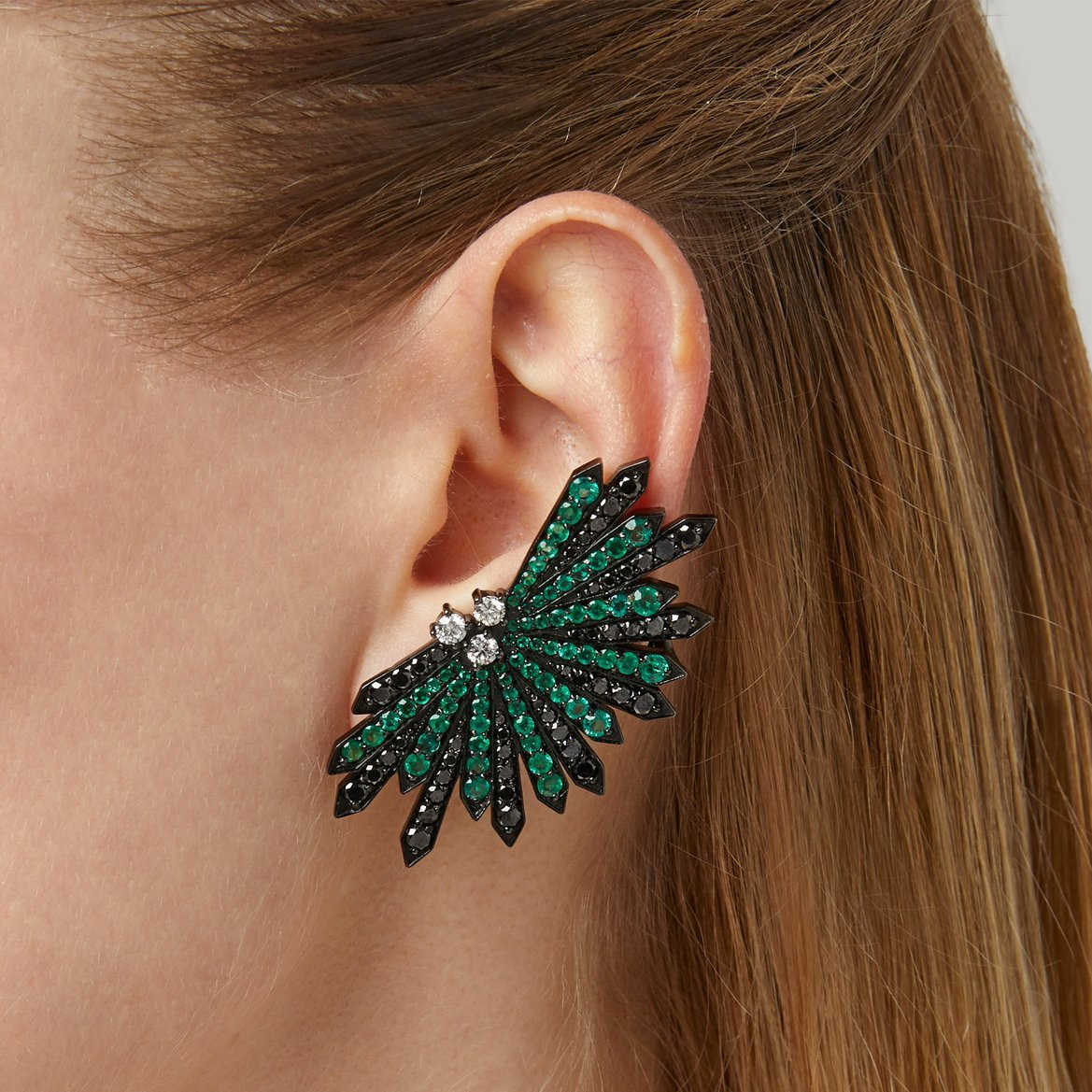 Penacho Emerald Earrings