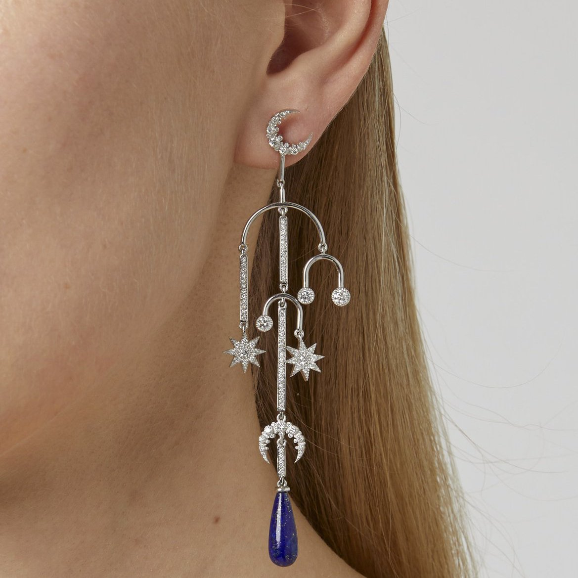 Mobile Moon Earring