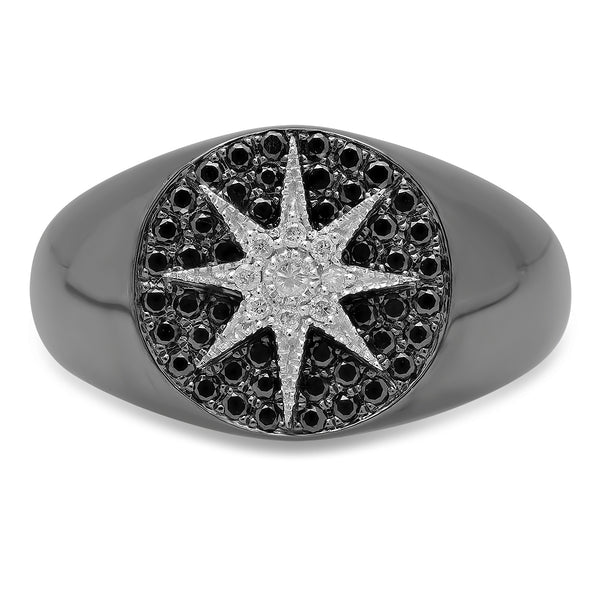 Pavé Star Signet Ring - Two Colors