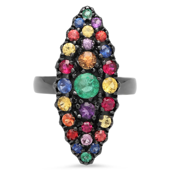 Chevalier Multi Colored Ring
