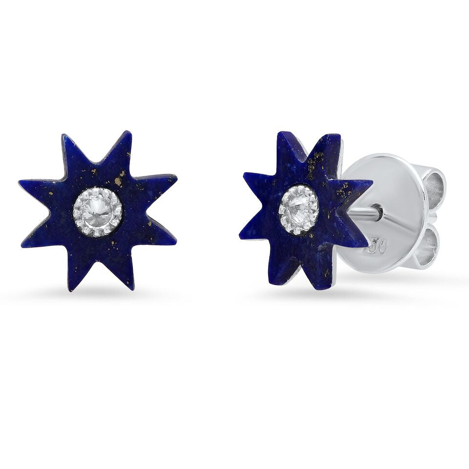 Classic Hardstone Studs - Four Colors
