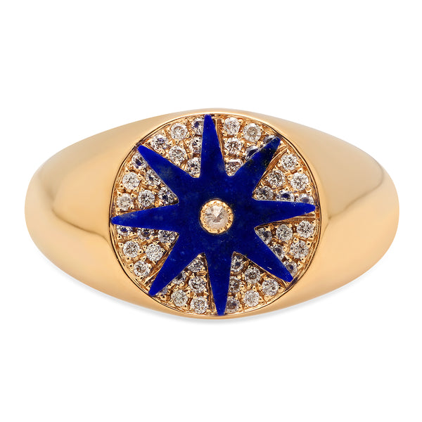 Star Signet Lapiz Ring