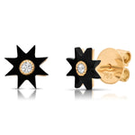 Star Hard Stone Studs Yellow Gold - Six Colors