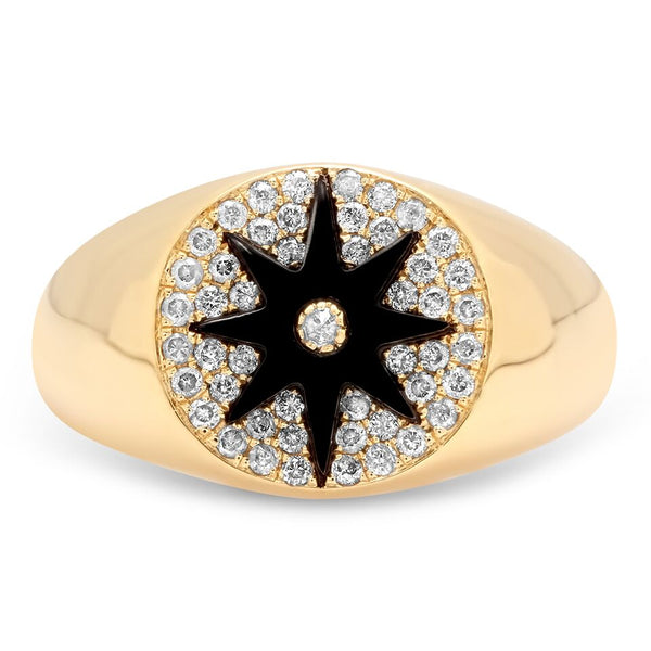Star Signet Onyx Ring