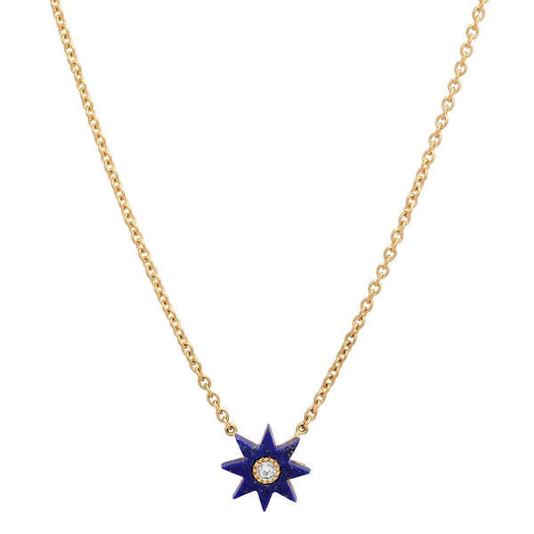 Twinkle Star Lapiz Necklace