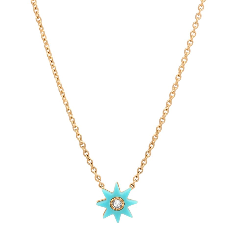 Twinkle Star Hard Stone Necklace - Four Colors