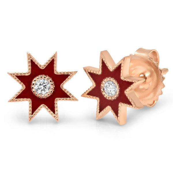 Twinkle Star Studs Rose Gold - Two Colors