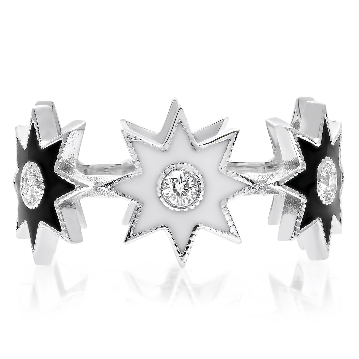 Twinkle Enamel Star Ring - Two Colors