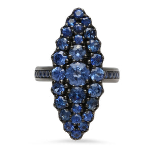 Blue Sapphire Marquise Ring
