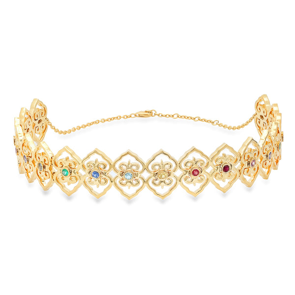 Multi-Colored Marrakech Choker
