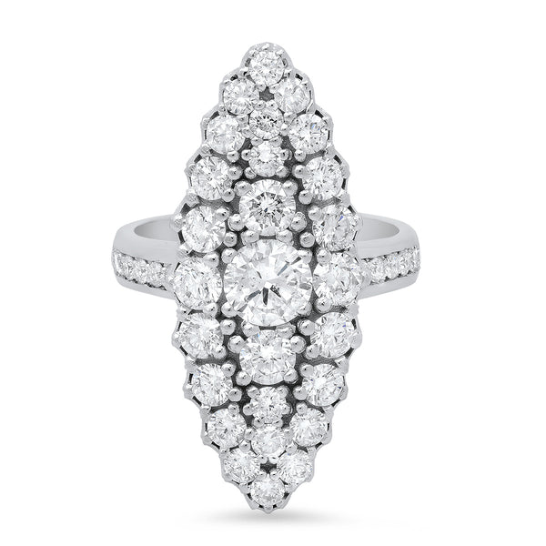 Jeanne D'arc Marquise Cluster Ring