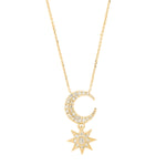 Mini Moon Star Necklace - Three Colors