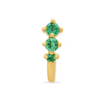 Maasai Three Emerald Earrings - Two Colors