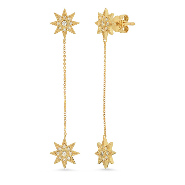 Mini Galaxia Star Stud with Drop