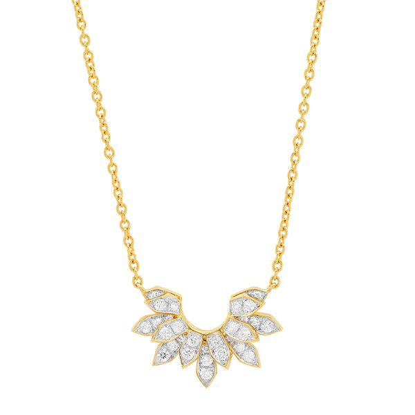 Mini Penacho Necklace White Diamonds