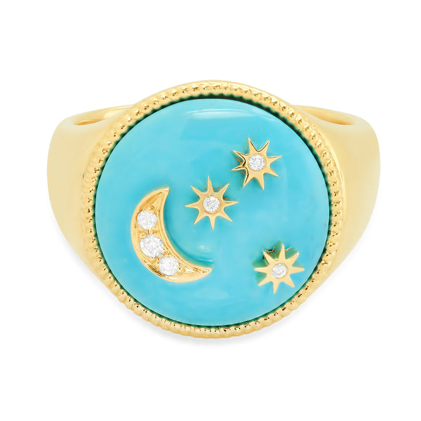 Moon and Stars Signet - Seven Colors