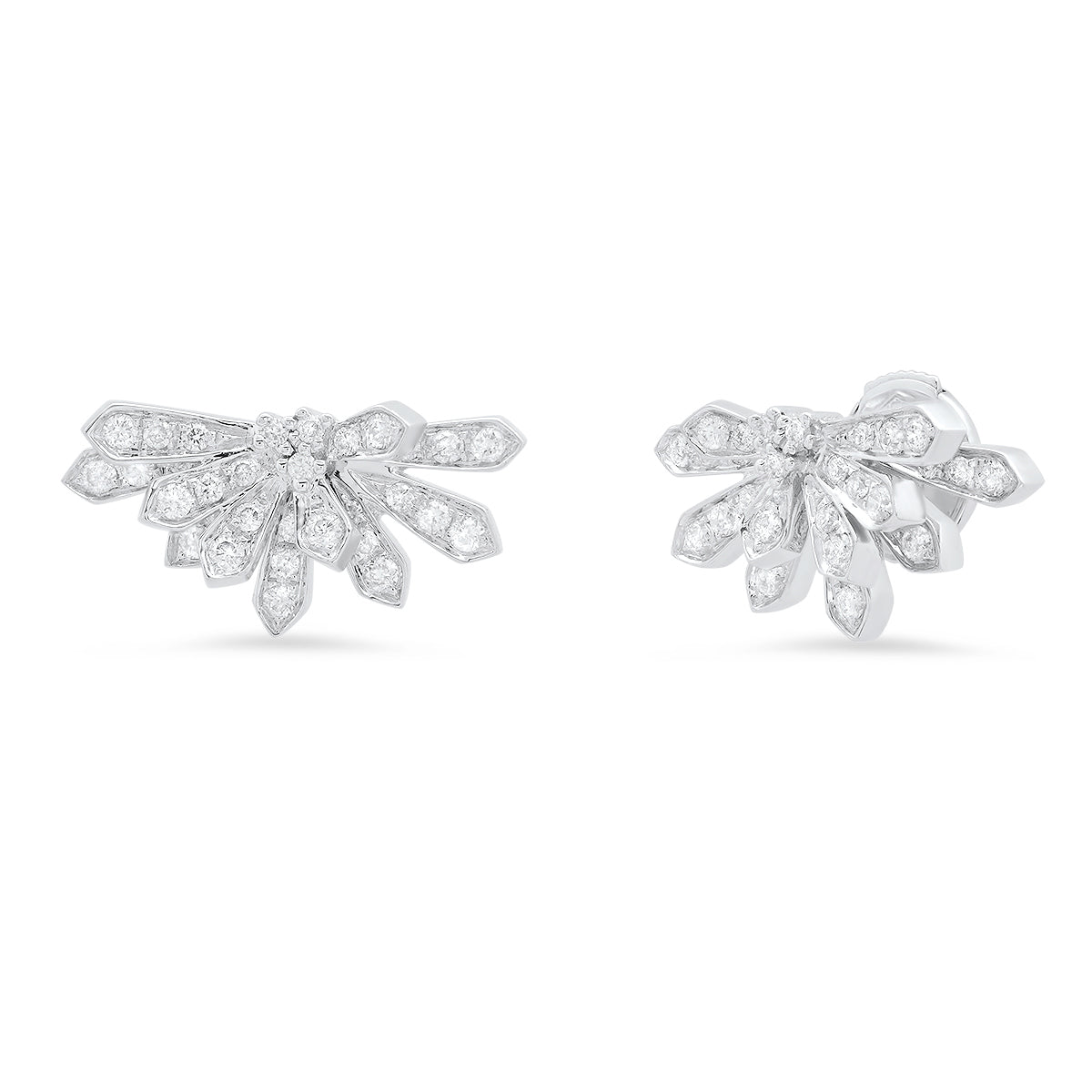 Mini Penacho Studs White Diamonds