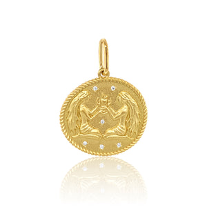 Double Sided Zodiac Charm
