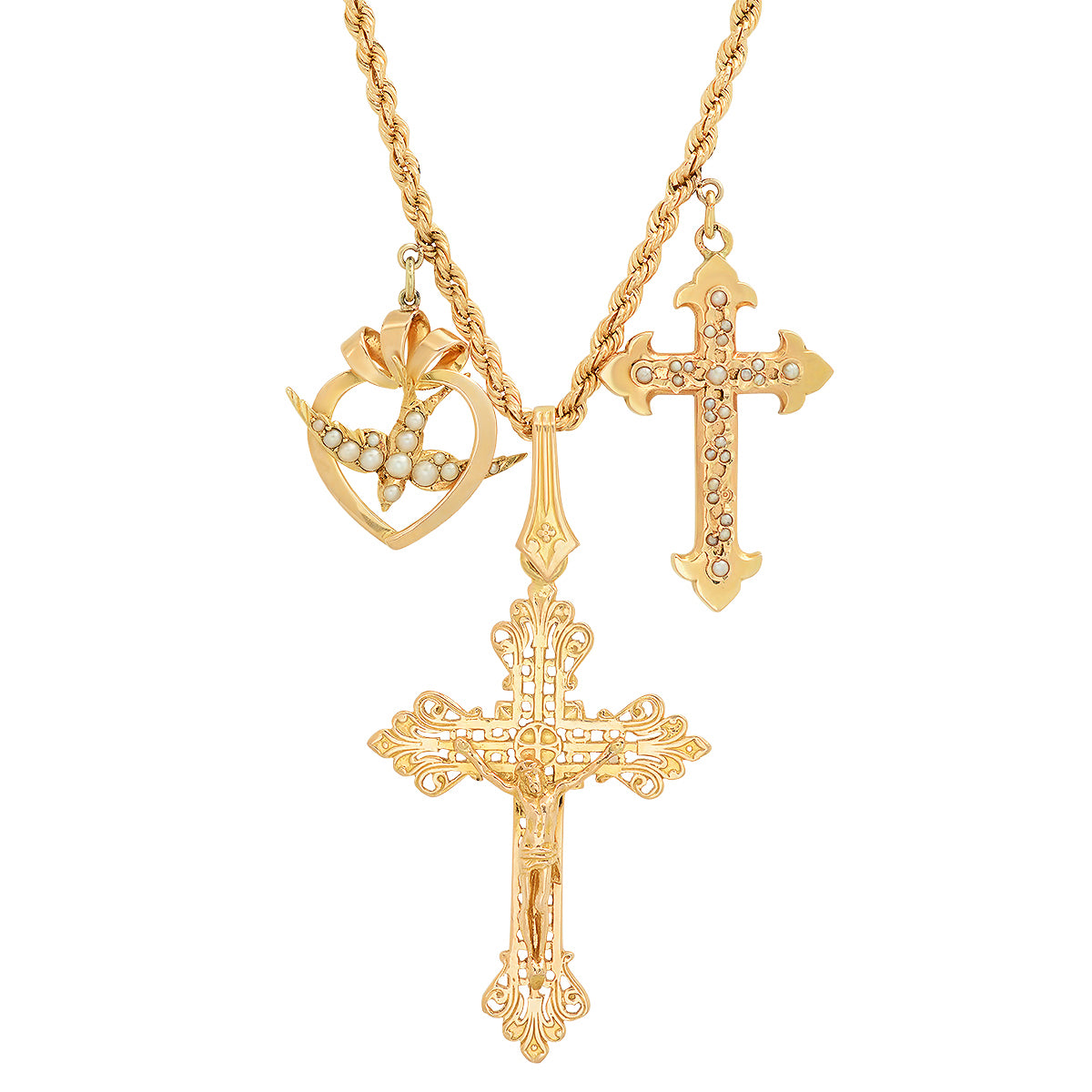 Two Cross Necklace