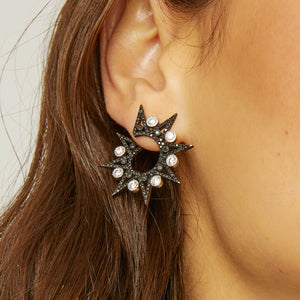 Lyra Black Earrings