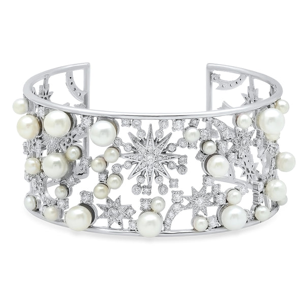 Star Diamond Pearl Cuff
