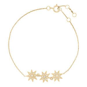 Three Star Bracelet