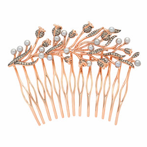 Pink Thistle Side Hair Comb