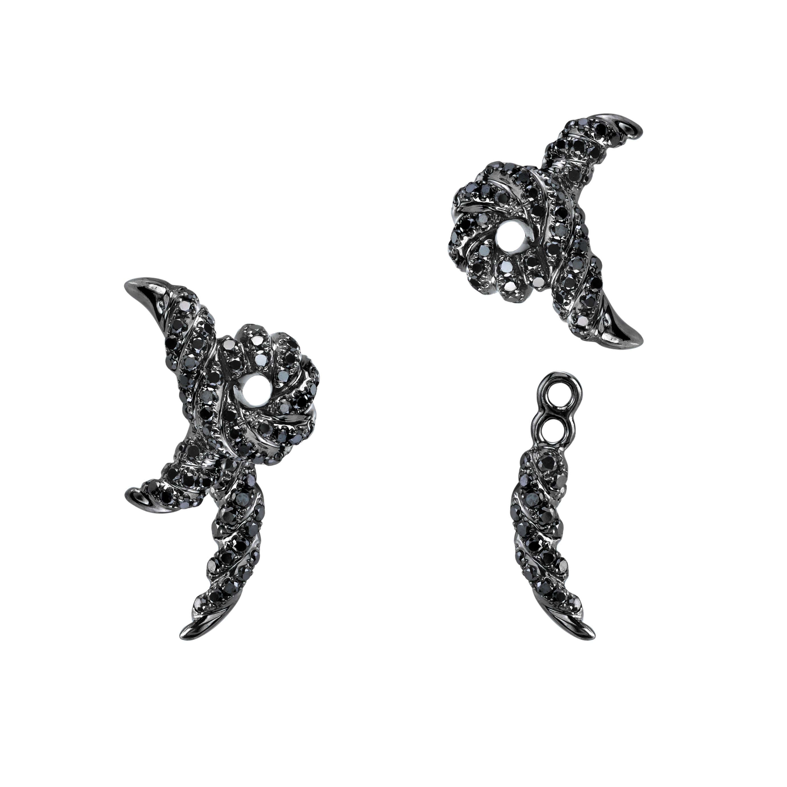 Twisted Markhor Earrings