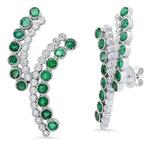 Entwined Emerald Earrings