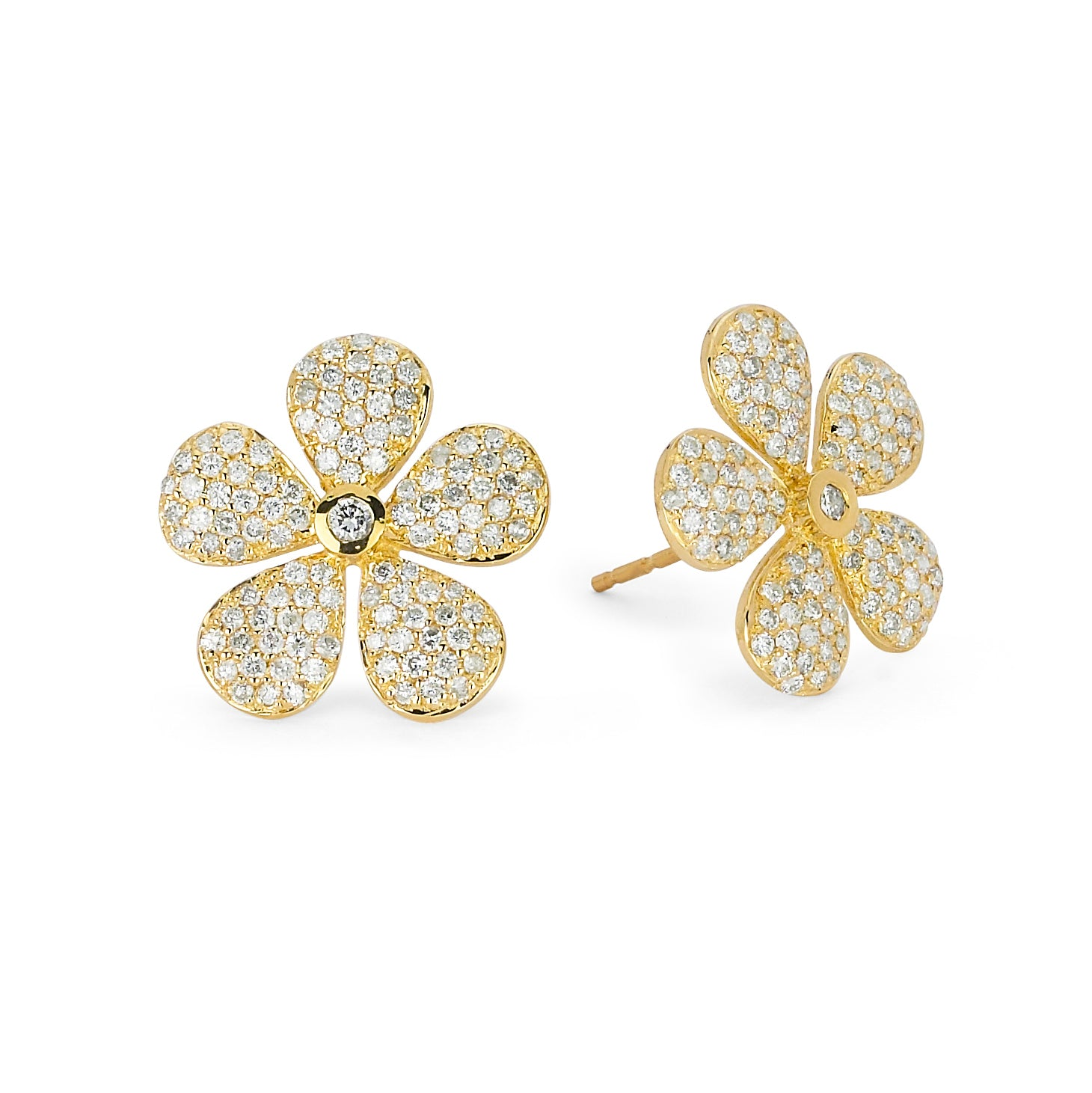 Daisy Studs - Yellow
