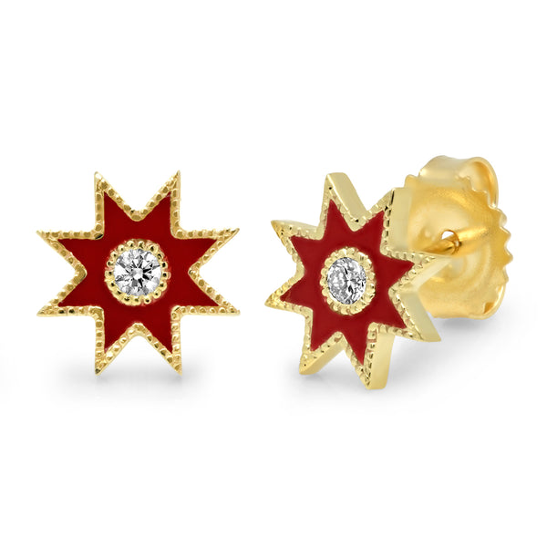 Twinkle Star Studs Yellow Gold - Twelve Colors