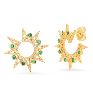Lyra Emerald Earrings