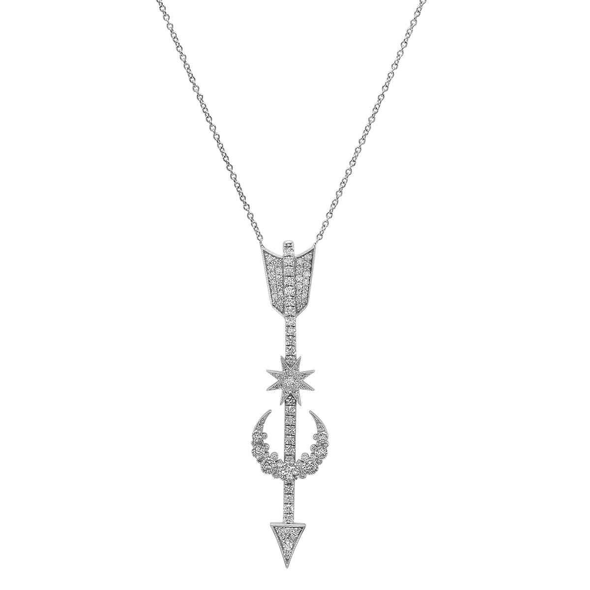 Star Arrow Pendant Necklace - Two Colors
