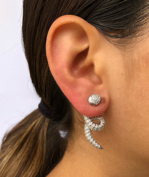 White Addax Earrings