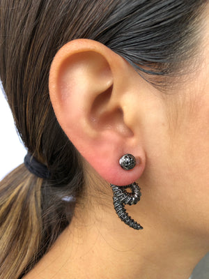 Black Addax Earrings