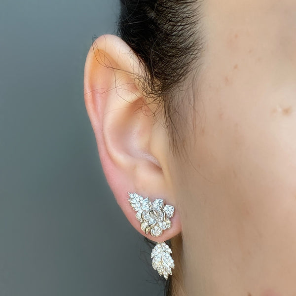White Rose Earring