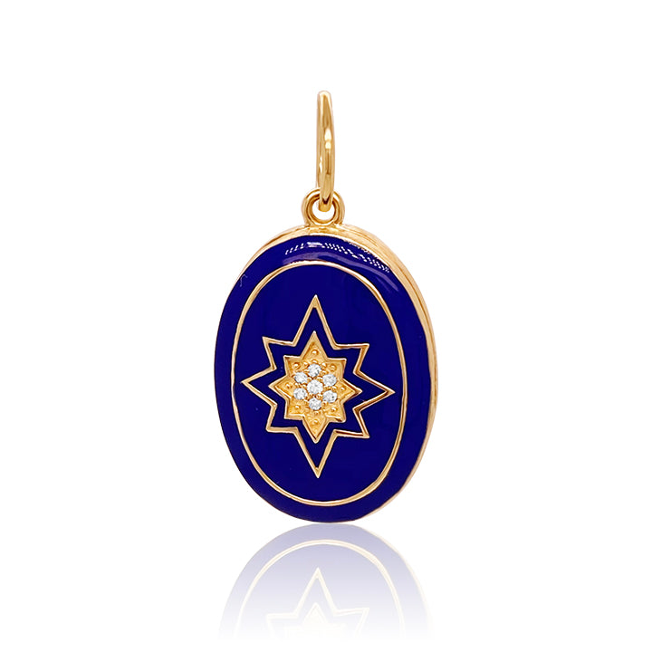 Enamel Blue Star