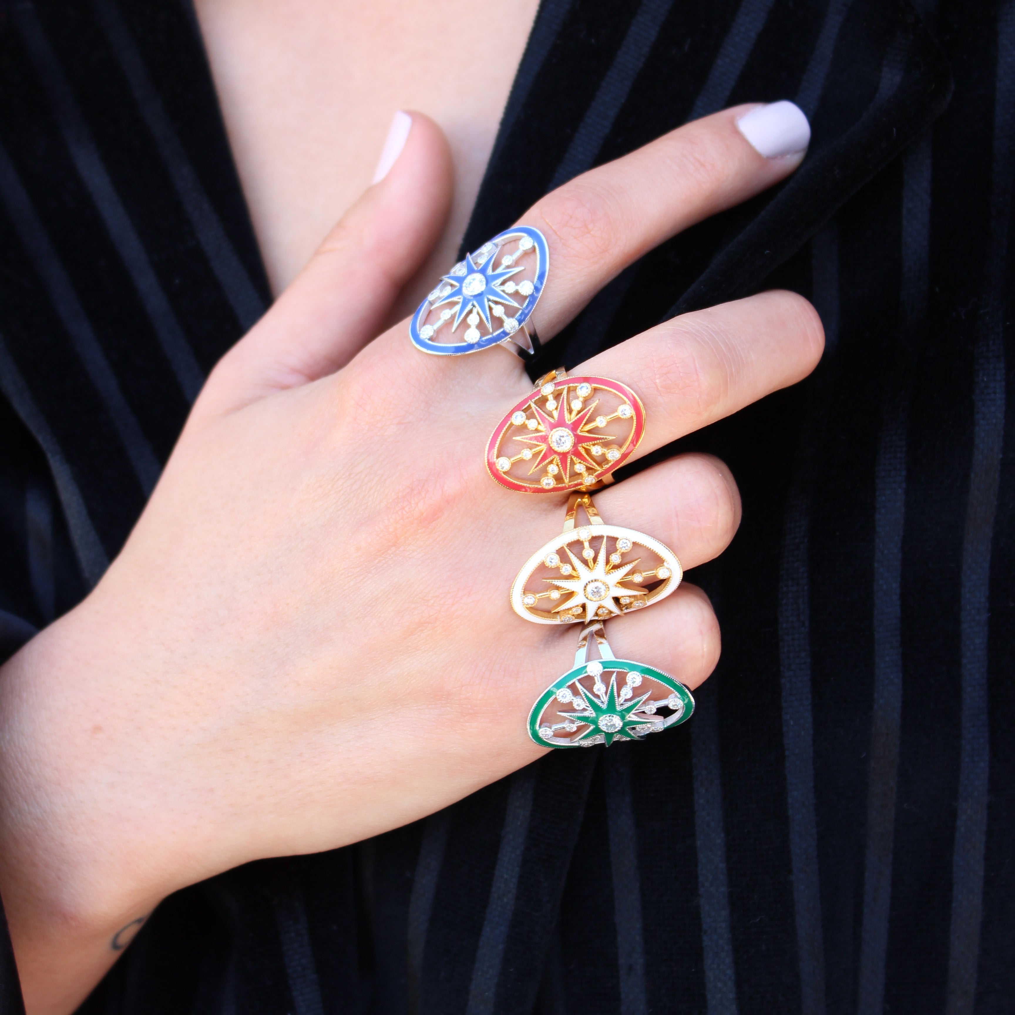 Monoceros Ring - Five Colors