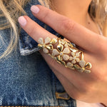 Camelia Full Finger Ring - Three Colors