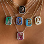 Gatsby Initial Necklace - Fifteen Colors