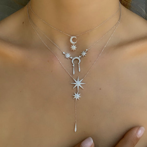 Moon Necklace - Three Colors