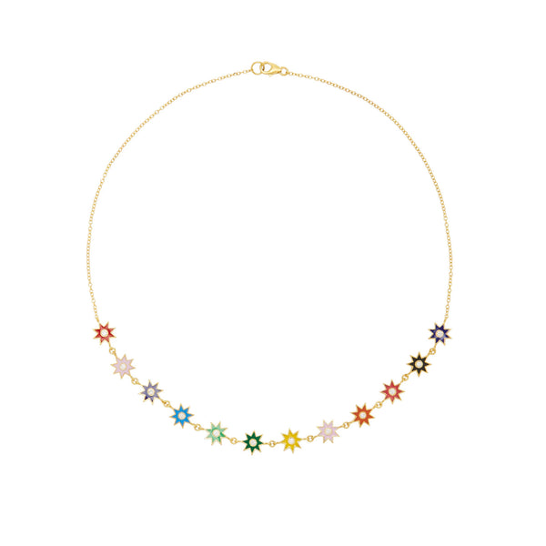 Multi-colored Enamel Necklace