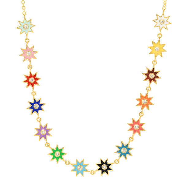 Twinkle Star Enamel Necklace