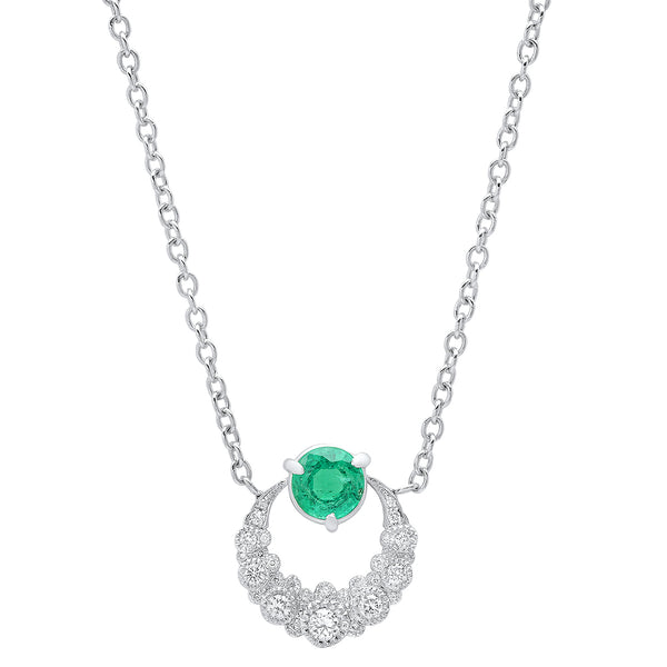 Moon Emerald Necklace