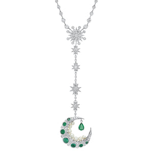 Emerald Mooncage Necklace
