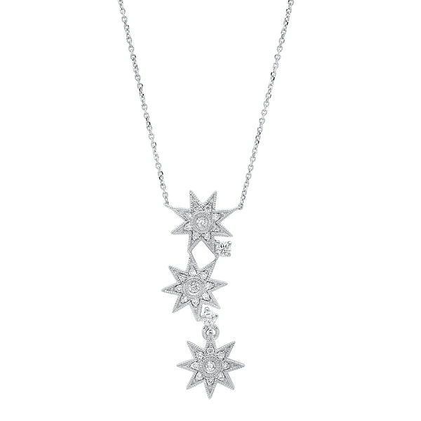 Three Star Necklace - Three Colors