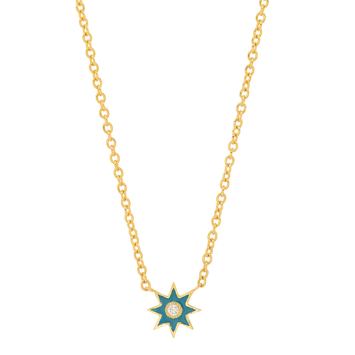 Single Star Enamel Pendant - Three Colors